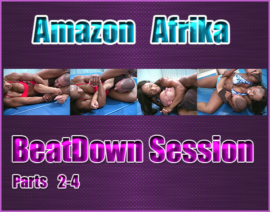 Mixed wrestling beatdown session